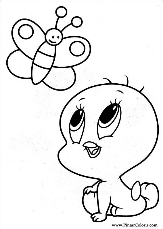 Dibujos Para Pintar Y Color Baby Looney Tunes Diseño De Impresión 021