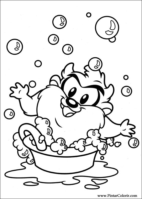 Drawings To Paint & Colour Baby Looney Tunes - Print Design 022