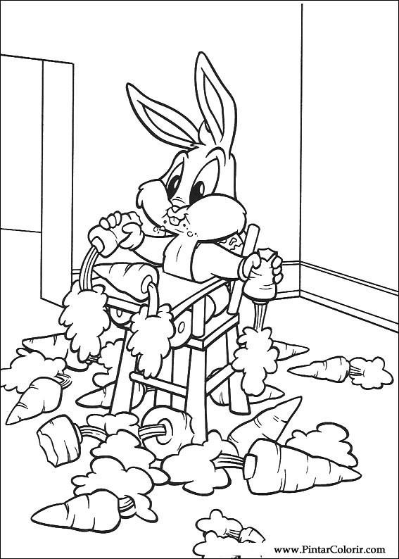 Dibujos para pintar y Color Baby Looney Tunes - Diseño de impresión 072