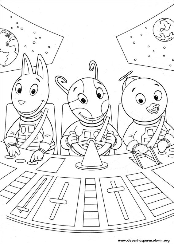 Drawings To Paint & Colour Backyardigans - Print Design 008