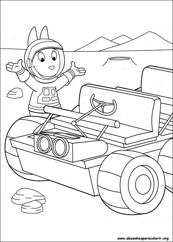 Dibujos para pintar & Colour Backyardigans - Diseño de impresión 012