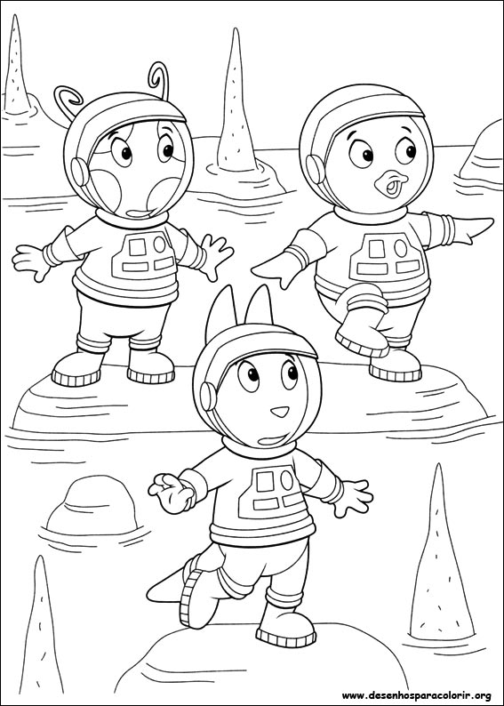 Desenhos Para Pintar E Colorir Backyardigans Imprimir Desenho 033
