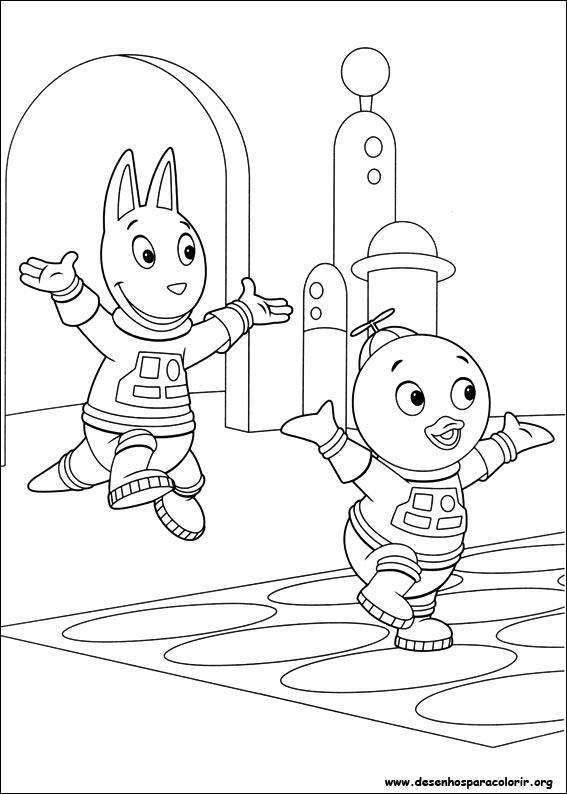 Desenhos Para Pintar E Colorir Backyardigans Imprimir Desenho 041