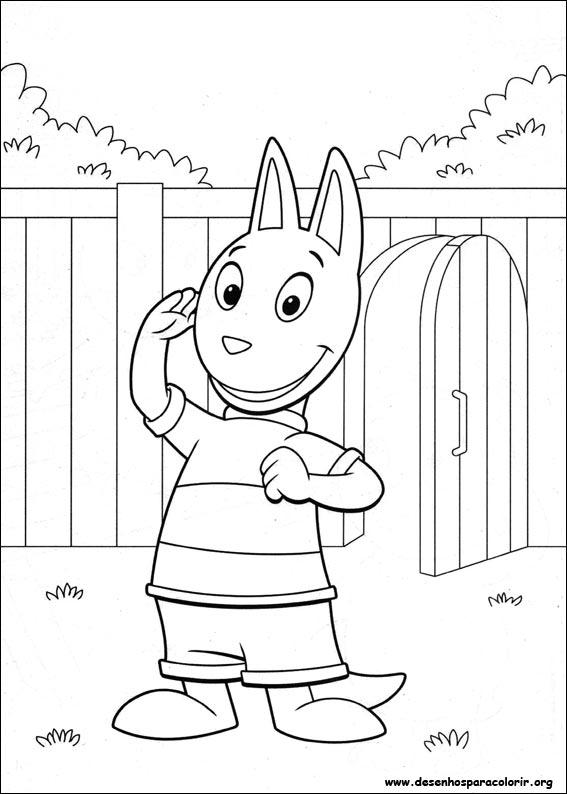 Pintar e Colorir Backyardigans - Desenho 003