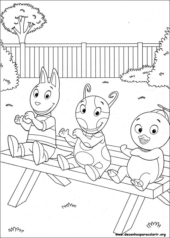 Drawings To Paint Colour Of Backyardigans