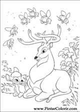 Pintar e Colorir Bambi 2 - Desenho 022