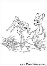 Pintar e Colorir Bambi 2 - Desenho 036