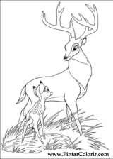 Desenhos Para Pintar E Colorir Bambi 2 Imprimir Desenho 037