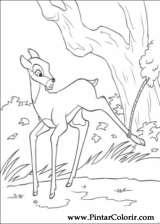 Pintar e Colorir Bambi 2 - Desenho 056