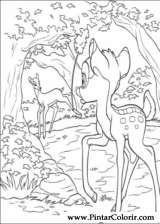 Pintar e Colorir Bambi 2 - Desenho 058