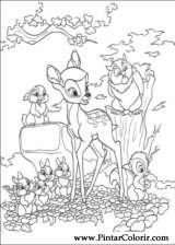 Pintar e Colorir Bambi 2 - Desenho 063
