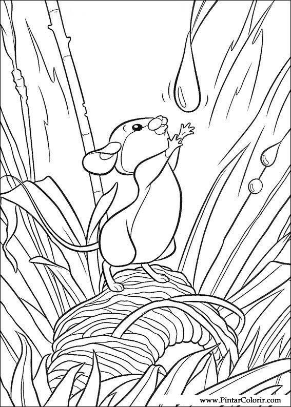 Dibujos para pintar y Color Bambi - Imprimir Diseño 013
