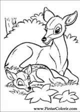 Pintar e Colorir Bambi - Desenho 001