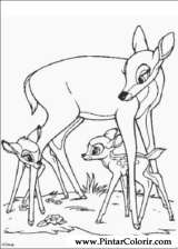 Pintar e Colorir Bambi - Desenho 008