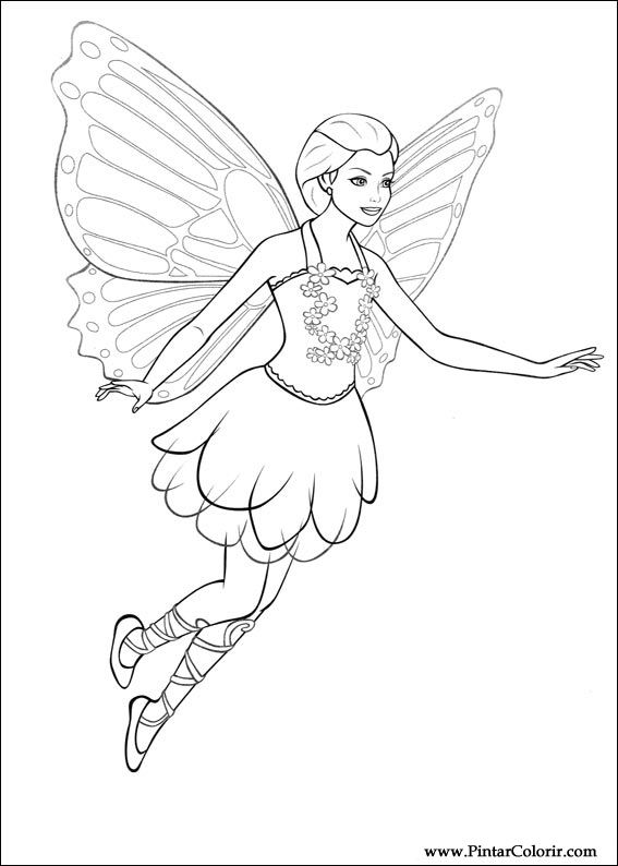 Desenhos Para Pintar E Colorir Barbie Mariposa Imprimir
