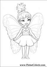 Pintar e Colorir Barbie Mariposa - Desenho 003