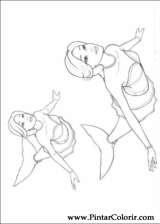 Pintar e Colorir Barbie Mariposa - Desenho 008
