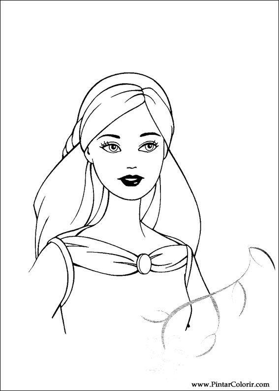 Pintar e Colorir Barbie Pegaso Magico - Desenho 002