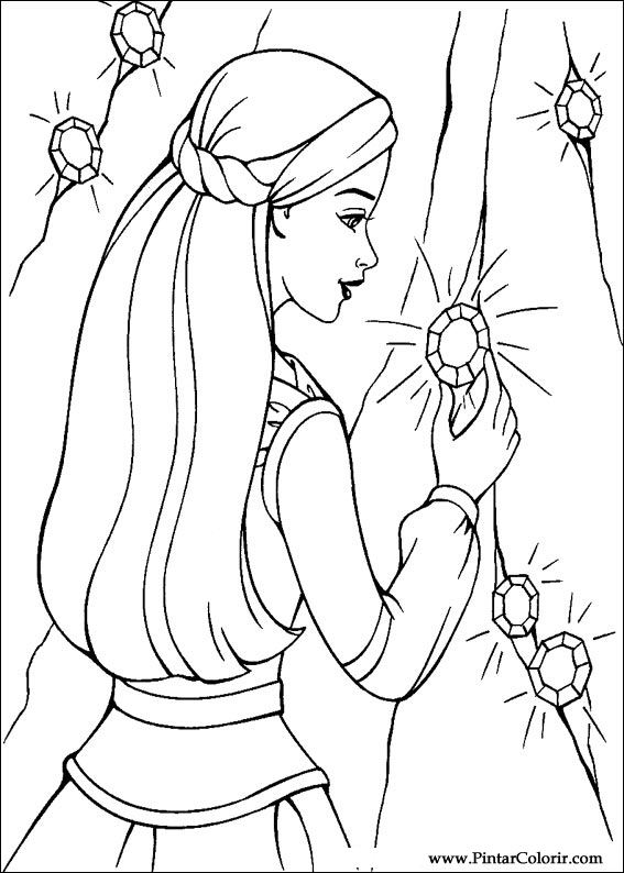 drawings to paint colour barbie magic pegasus print design 018