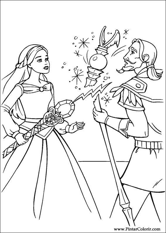 Dibujos para pintar y Color Barbie Magic Pegasus - Diseño de ...