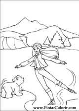 Pintar e Colorir Barbie Pegaso Magico - Desenho 001