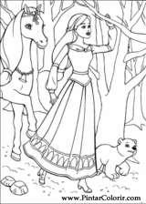 Pintar e Colorir Barbie Pegaso Magico - Desenho 011