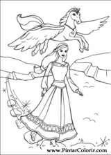 Pintar e Colorir Barbie Pegaso Magico - Desenho 016