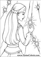 Pintar e Colorir Barbie Pegaso Magico - Desenho 018
