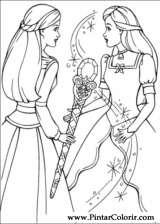 Pintar e Colorir Barbie Pegaso Magico - Desenho 020