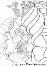 Pintar e Colorir Barbie Polegar - Desenho 001