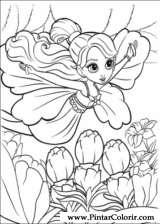 Pintar e Colorir Barbie Polegar - Desenho 003