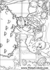 Pintar e Colorir Barbie Polegar - Desenho 006