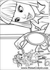 Pintar e Colorir Barbie Polegar - Desenho 007