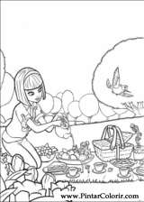 Pintar e Colorir Barbie Polegar - Desenho 013