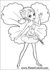 Pintar e Colorir Barbie Polegar - Desenho 018
