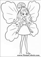 Pintar e Colorir Barbie Polegar - Desenho 020
