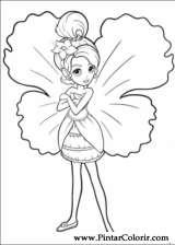 Pintar e Colorir Barbie Polegar - Desenho 021