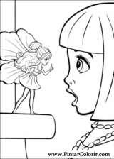 Pintar e Colorir Barbie Polegar - Desenho 024