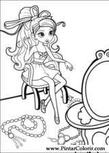 Pintar e Colorir Barbie Polegar - Desenho 027