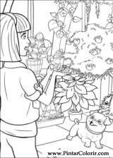 Pintar e Colorir Barbie Polegar - Desenho 028