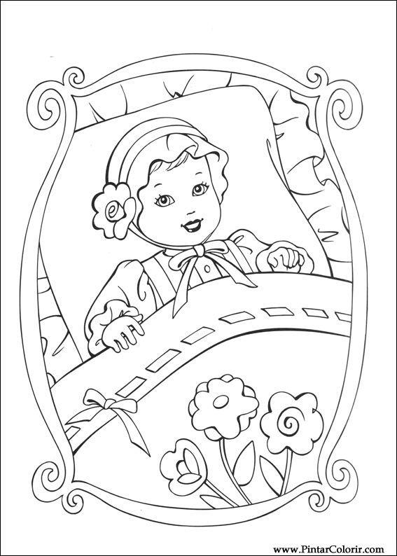 Dibujos para pintar y Color Barbie Princesa - Diseño de impresión 002