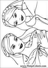 Pintar e Colorir Barbie Princesa - Desenho 001