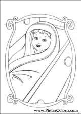 Pintar e Colorir Barbie Princesa - Desenho 003