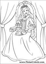 Pintar e Colorir Barbie Princesa - Desenho 004