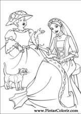 Pintar e Colorir Barbie Princesa - Desenho 005