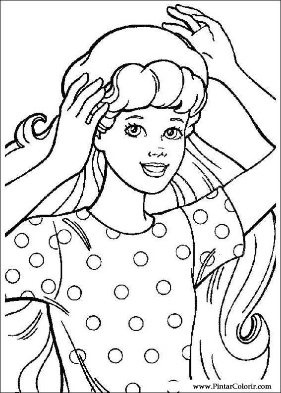 Desenhos Para Pintar E Colorir Barbie Imprimir Desenho 005