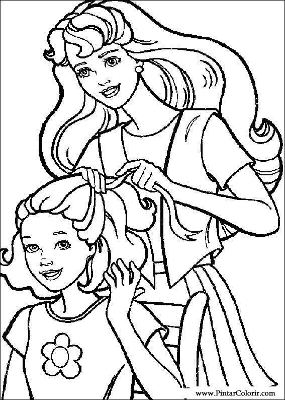 Desenhos Para Pintar E Colorir Barbie Imprimir Desenho 011