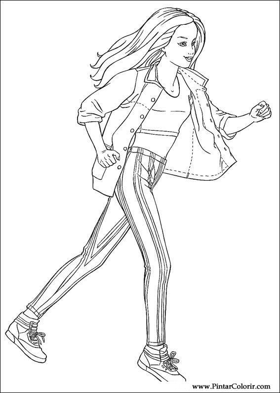 desenhos para pintar e colorir barbie imprimir desenho 038