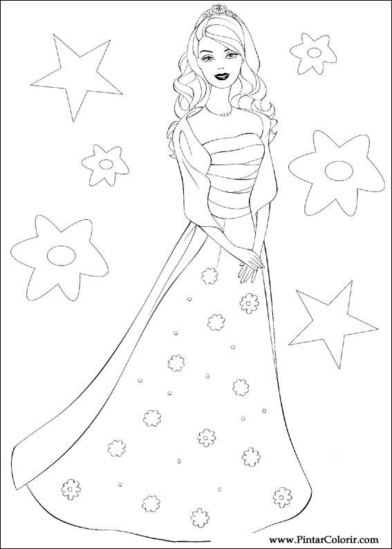 drawings to paint colour barbie print design 067
