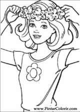 Pintar e Colorir Barbie - Desenho 004